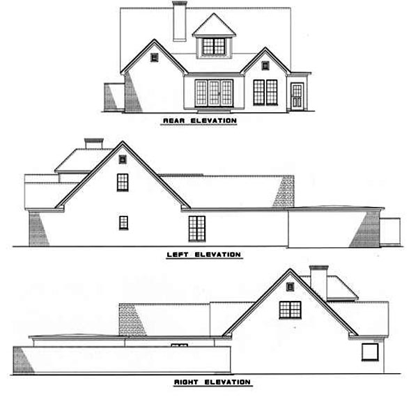 House Plan 62225 Rear Elevation