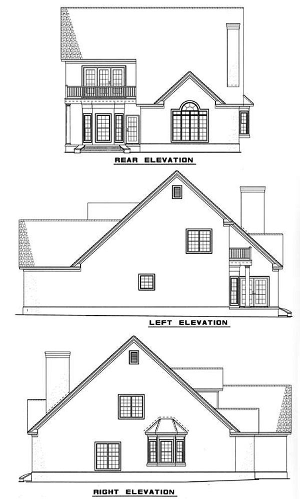 House Plan 62226 Rear Elevation