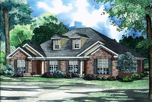 Multi-Family Plan 62229 Elevation
