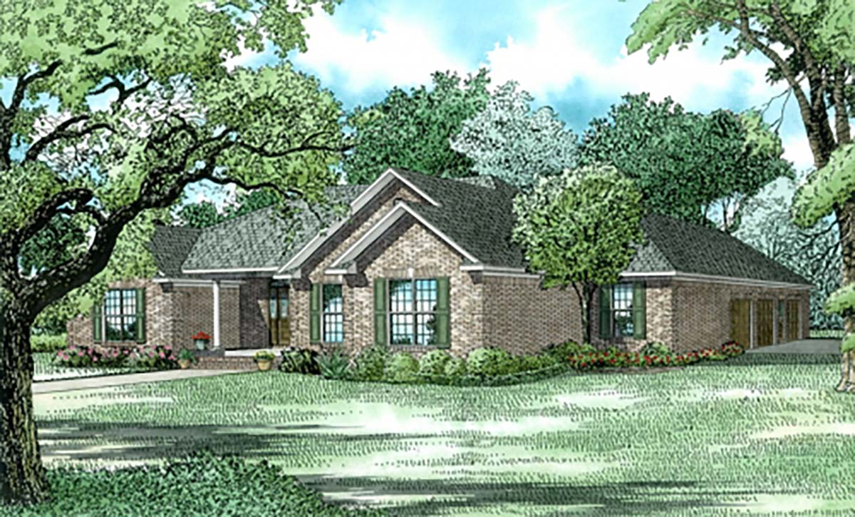 Traditional House Plan 62233 Elevation