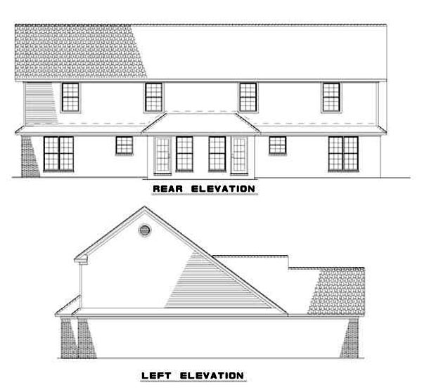 Multi-Family Plan 62236 with 6 Beds, 6 Baths, 4 Car Garage Rear Elevation