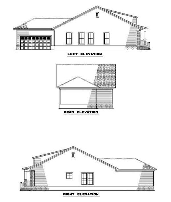 House Plan 62241 Rear Elevation