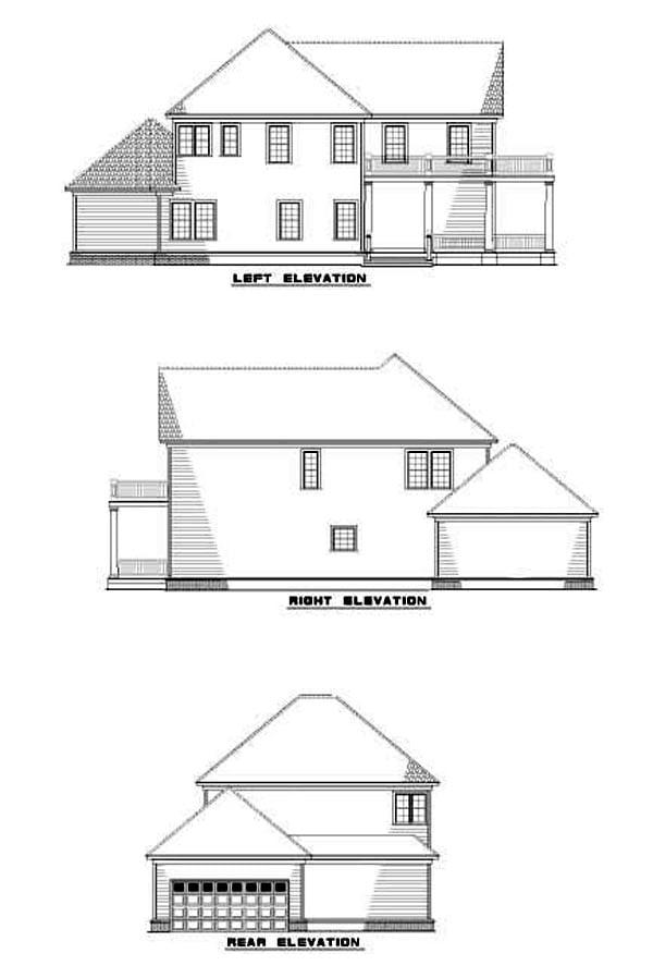 House Plan 62244 Rear Elevation