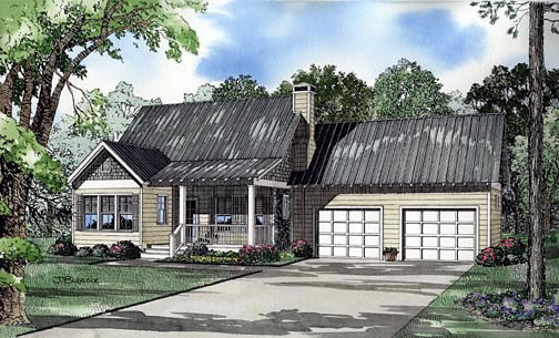 House Plan 62245 Elevation