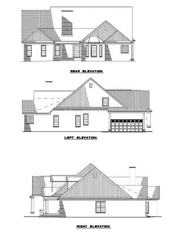 Craftsman Traditional House Plan 62249 Rear Elevation