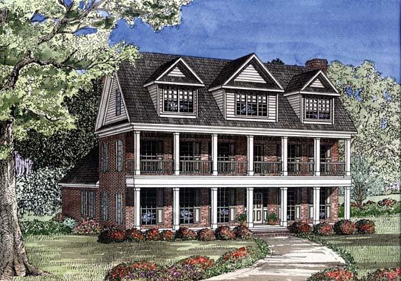 House Plan 62254 Elevation