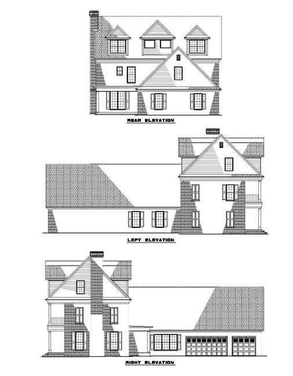 House Plan 62254 Rear Elevation