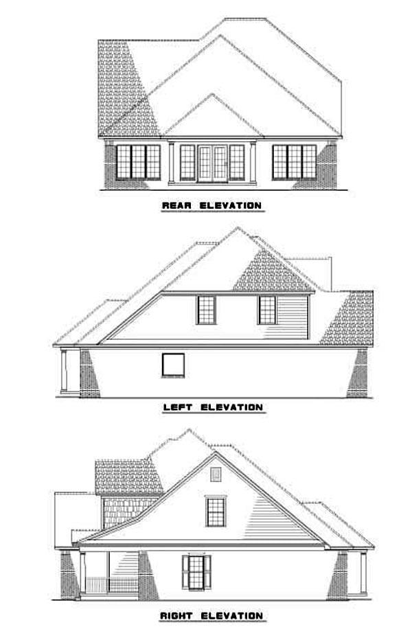 House Plan 62255 Rear Elevation