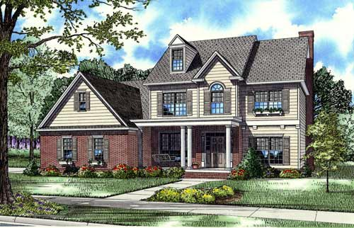 House Plan 62258 Elevation