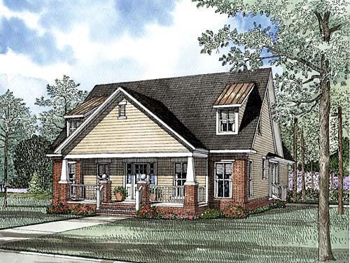 House Plan 62260 Elevation