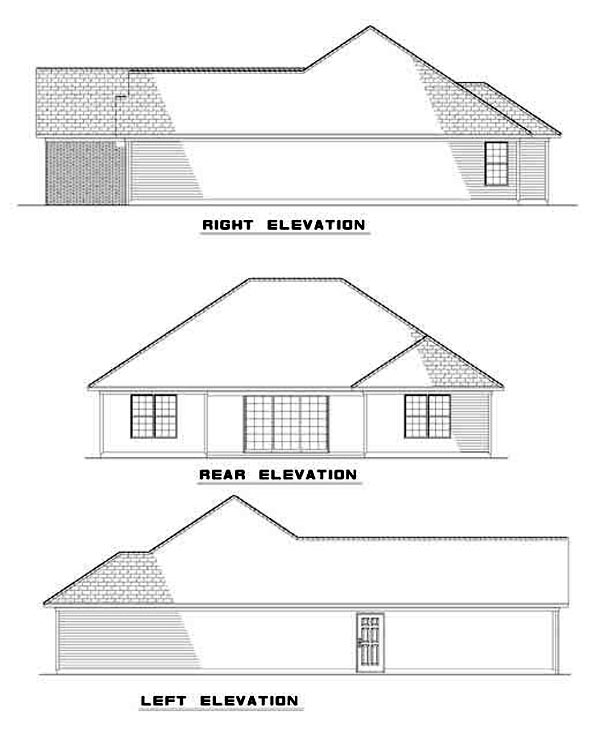 House Plan 62263 Rear Elevation