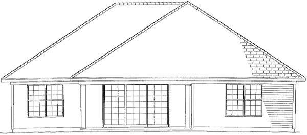 House Plan 62264 Rear Elevation