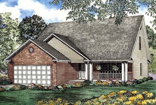 House Plan 62272 Elevation