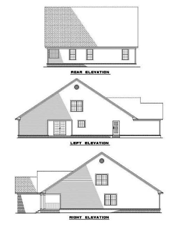 House Plan 62272 Rear Elevation