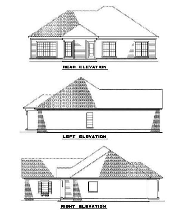 House Plan 62277 Rear Elevation