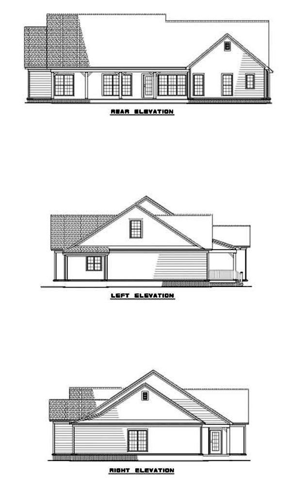 House Plan 62281 Rear Elevation