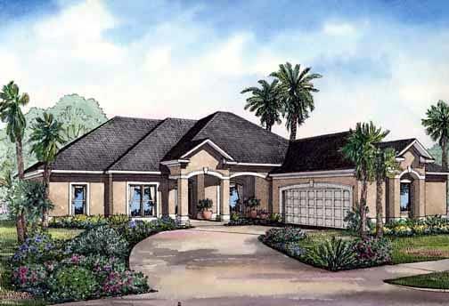 House Plan 62283 Elevation
