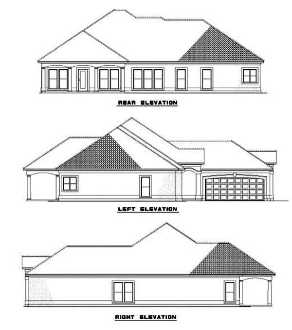 House Plan 62283 Rear Elevation