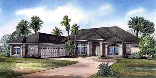 House Plan 62284 Elevation