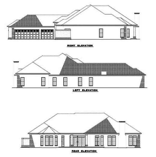 House Plan 62284 Rear Elevation