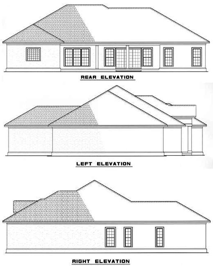 House Plan 62286 Rear Elevation