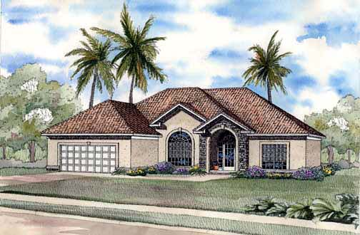 House Plan 62287 Elevation