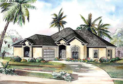 House Plan 62288 Elevation
