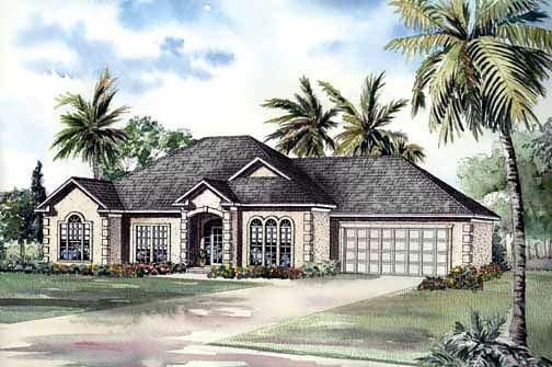 Elevation of European   Ranch   Southwest   House Plan 62292