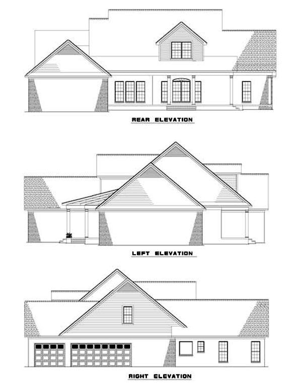 House Plan 62297 Rear Elevation
