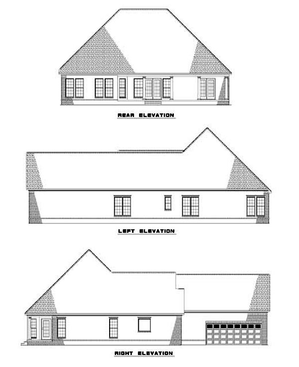 House Plan 62298 Rear Elevation