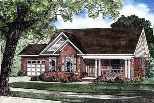 House Plan 62302 Elevation