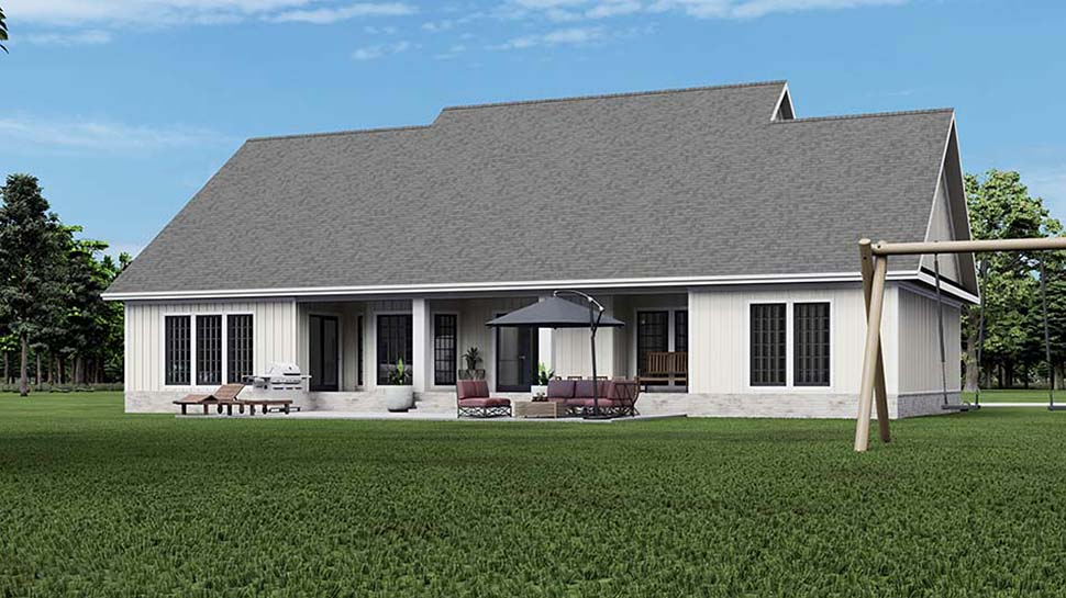 Cape Cod Country Craftsman Traditional House Plan 62306 Rear Elevation
