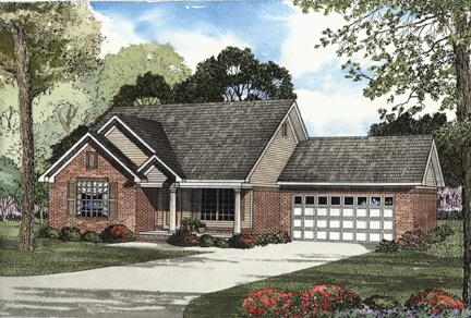 House Plan 62308 Elevation