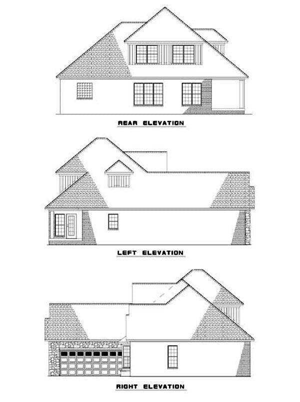 House Plan 62311 Rear Elevation