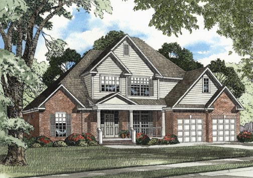 House Plan 62318 Elevation