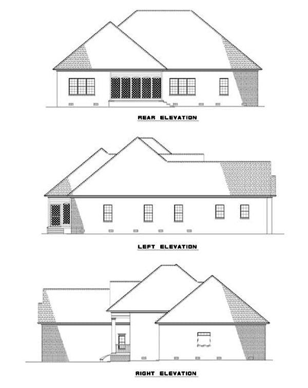 House Plan 62320 Rear Elevation