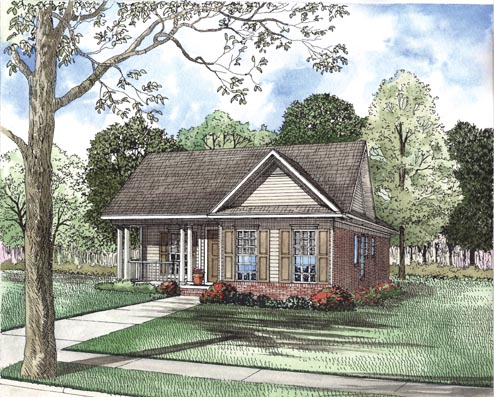 House Plan 62326 Elevation