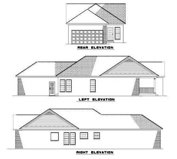 House Plan 62326 Rear Elevation