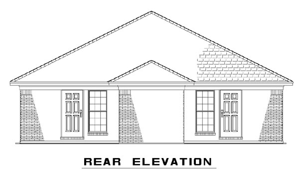 Multi-Family Plan 62332 Rear Elevation