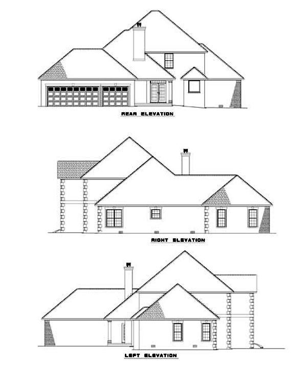 Traditional House Plan 62337 Rear Elevation