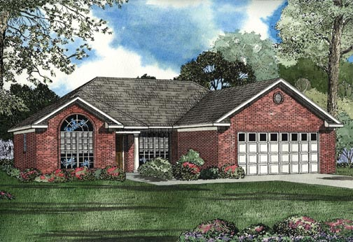 House Plan 62340 Elevation