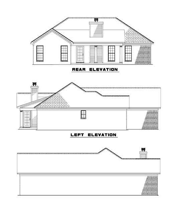 House Plan 62340 Rear Elevation