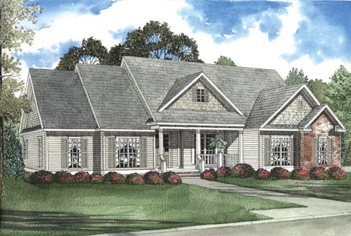 Elevation of House Plan 62341