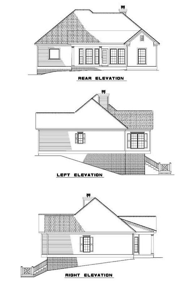 House Plan 62342 Rear Elevation