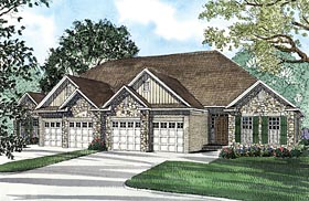 Duplex and multiplex plans at for Fourplex plans with garage