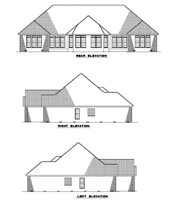 Multi-Family Plan 62349 Rear Elevation