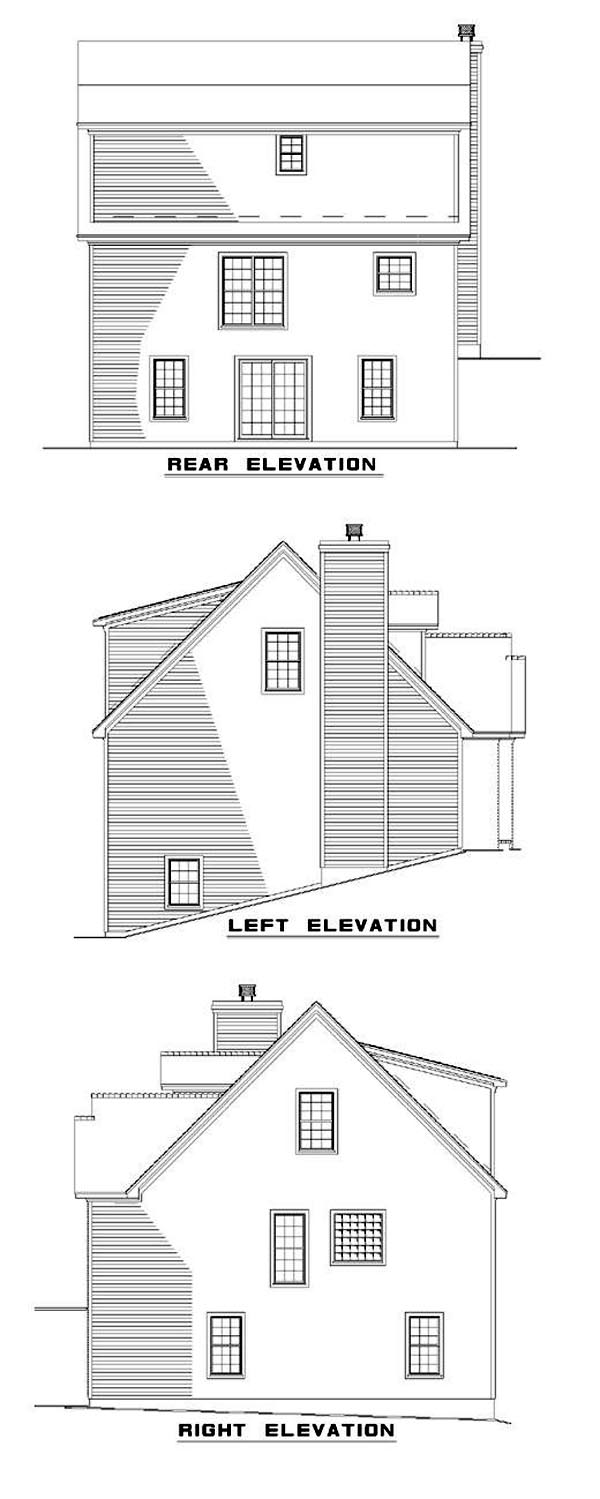 House Plan 62355 Rear Elevation