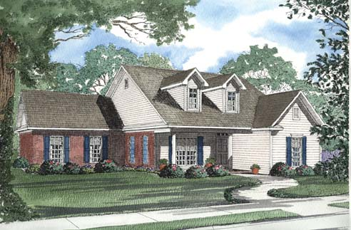 One-Story, Ranch House Plan 62366 with 3 Beds, 2 Baths, 2 Car Garage Elevation