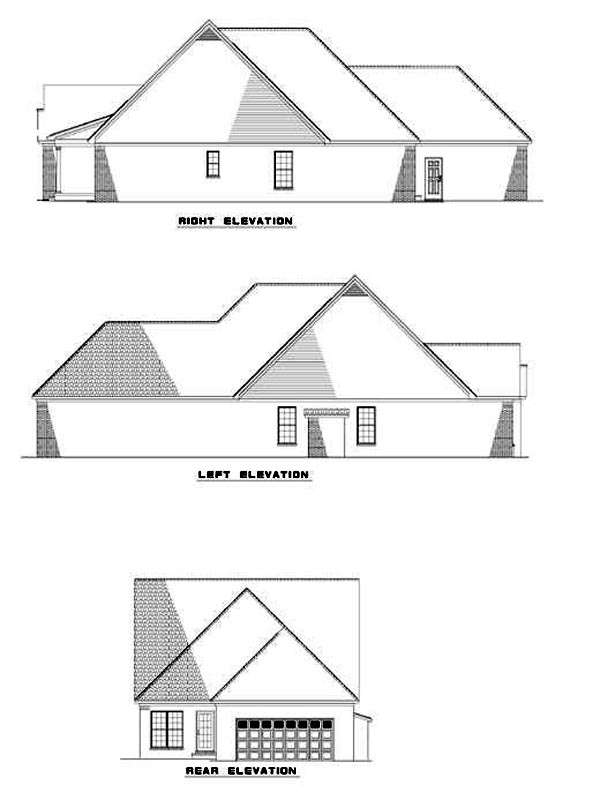 House Plan 62367 Rear Elevation