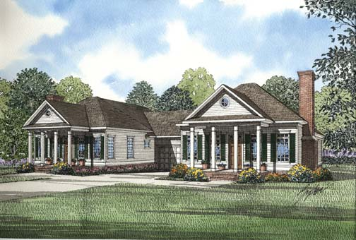 Traditional Multi-Family Plan 62378 Elevation